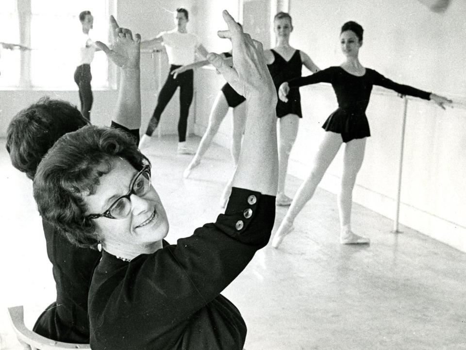Dec. 28, 1963: E. Virginia Williams, founder of the Boston Ballet School, directed practice at her studio on Massachusetts Avenue in Boston. A Ford Foundation grant of $144,000 given to the Boston Ballet School several weeks earlier created Boston's first and only professional ballet company.